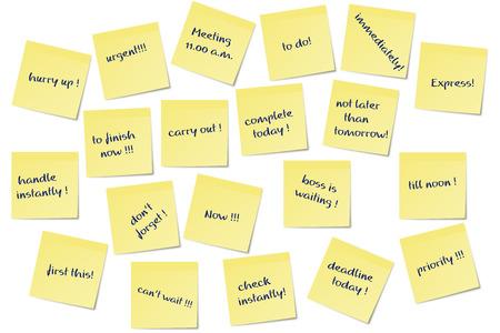 different urgent paper memo notes image
