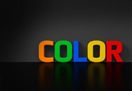 aglow: conceptual 3D rending concerning color and contrast