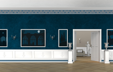 foyer: FITCTITIOUS vintage style museum, gallery, villa or castle interior