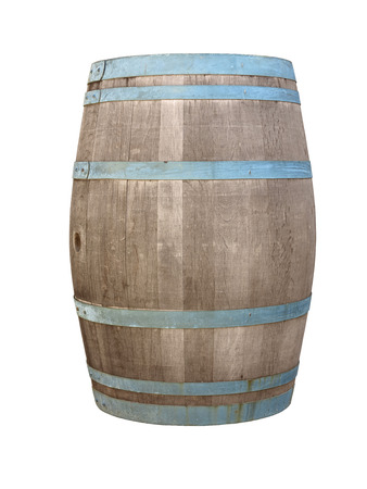 hogshead: wooden barrique hogshead isolated on white background Stock Photo