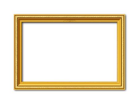 Marco de oro de estilo ornamental de la vendimia aislado en el fondo blanco Foto de archivo - 60616717