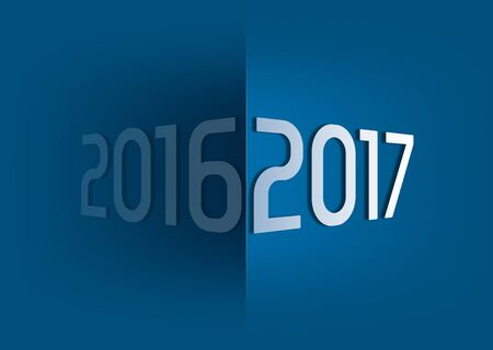 3d icon: at the turn of the year 2016 2017 Stock Photo