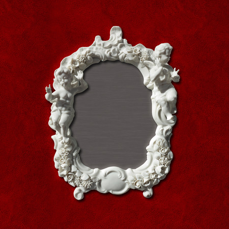 putto: vintage retro style picture, photo or mirror frame including clipping paths