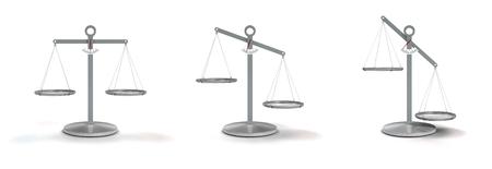 scale balanced and unbalanced on white background