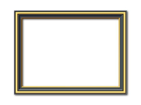 tableau: black and golden vintage style vector frame isolated on white background Illustration