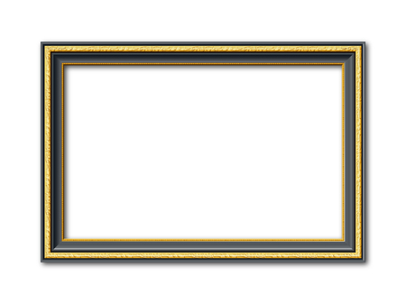 black and golden ornamental vintage style vector frame isolated on white background