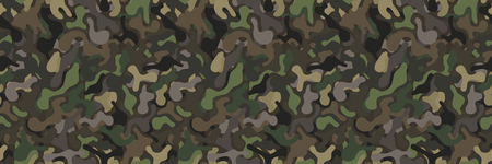 Seamless military camouflage vector background pattern in natural colors.