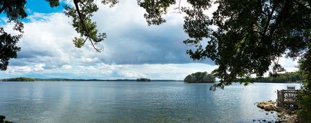 panoramic landscape showing the lake Stock fotó