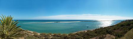 panoramic algarve landscape near Cacela Velha with beach and the sea