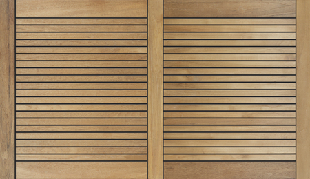 decorative wooden teak design background with black joint gaps Stock fotó