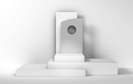 white abstract podium background for product presentation - 3d rendering Stock fotó