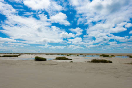 tidal flat in the middle of the wadden sea at the beach of Fanø in Denmark Stock fotó - 151961335