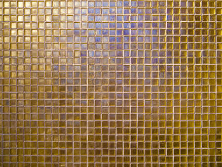 abstract decorative glossy and shiny background of gold yellow mosaic glass tiles Stock fotó - 152885322