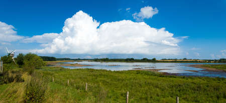 Panoramic landscape of the nature reserve