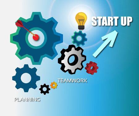 Business Mechanism Start up Concept