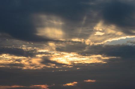 hua hin: Beautiful Sunrise at Hua Hin, Thailand. Stock Photo