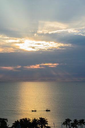 Beautiful Sunrise at Hua Hin, Thailand. photo
