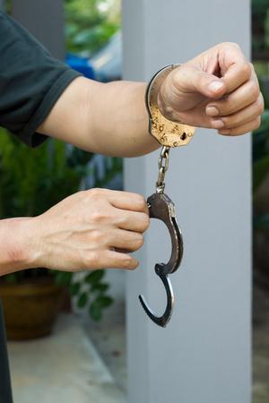 Male prisoner hand