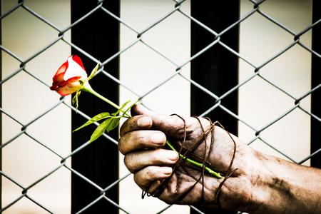 Gefangene Hand