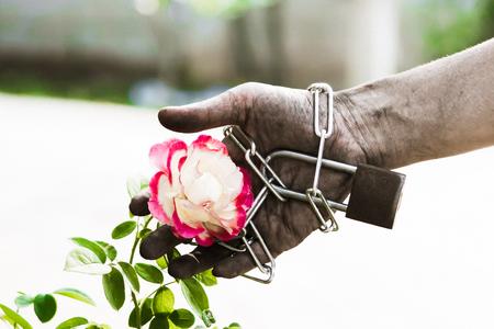 Imprisoned hand