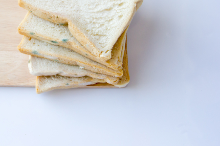 bread that has expired on wooden background 스톡 콘텐츠 - 105463817