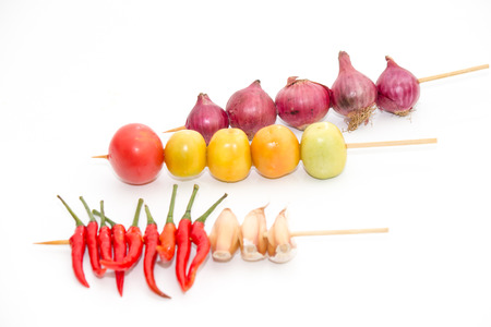 Chili, garlic, shallots, tomatoes for cooking