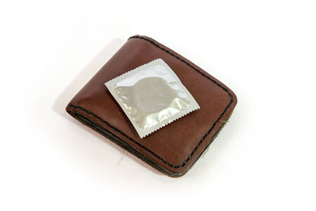 Condoms carry a bag, ready to use photo
