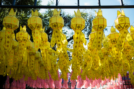 Paper lantern decorations  During the various traditions of northern Thailand photo