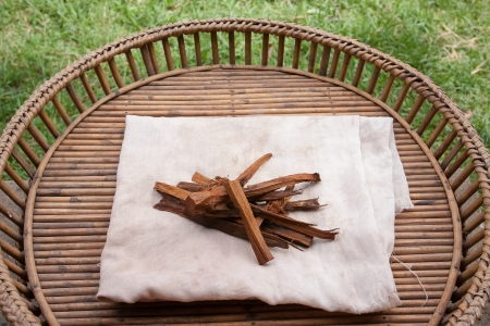 Natural materials Process of weaving, dyeing textile materials used in making dye nature of ancient Thailand as silk Stock Photo - 23831134