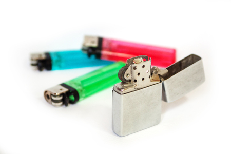 Portable lighter colors too old and the new Stock Photo - 24032583