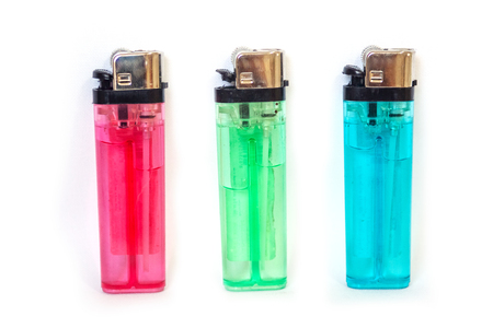 Portable lighter colors too old and the new Stock Photo - 24032606