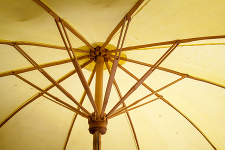 umbrella made of paper   cloth Arts and crafts of the village Bo Sang, Chiang Mai Thailand  photo