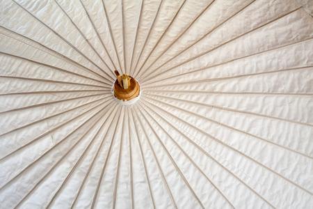 umbrella madeof paper   fabric  Arts and crafts of the village Bo Sang, Chiang Mai Thailand  photo