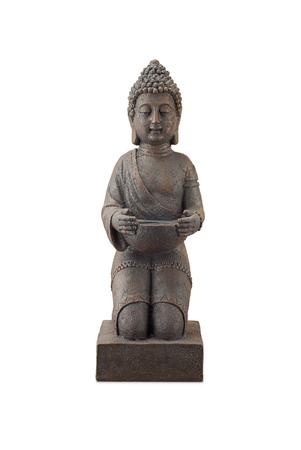 Buddha statue at full length isolated on white background