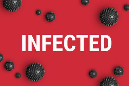 Text INFECTED on red background Stock fotó