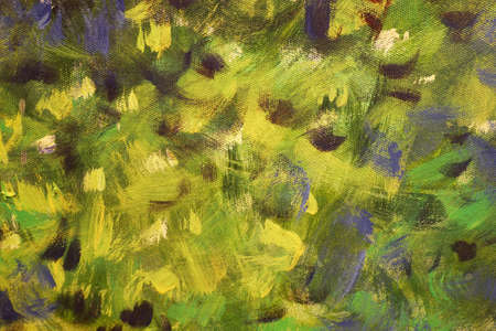 Brush strokes abstract background, brush texture, fragment of acrylic painting on canvas.