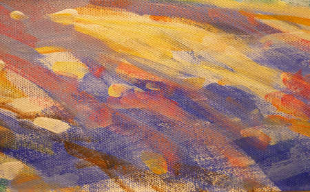 Art abstract background bright brush strokes , brush texture, fragment of acrylic painting on canvas. Standard-Bild
