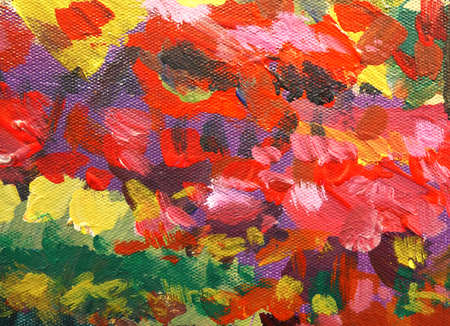 Abstract colorful  background with brushstrokes of texture painted.