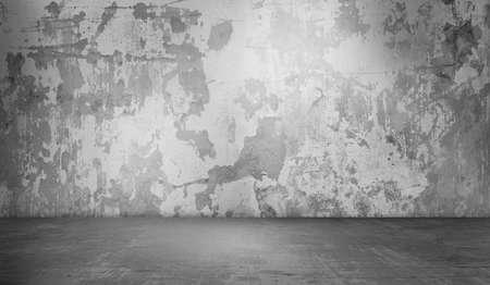 Wide grunge concrete wall decoration background texture.