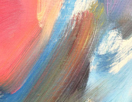 Abstract art background with acrylic paint stains on canvas. Artwork for creative design.