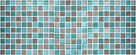 Blue and brown color glittering mosaic tiles pattern square for texture banner background. Banque d'images