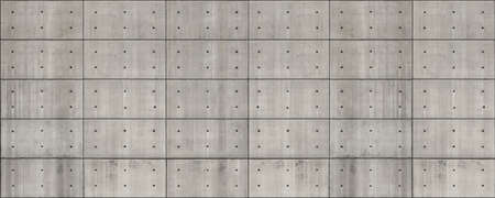Concrete wall with dimples and grid lines decorative texture as a banner background Banque d'images