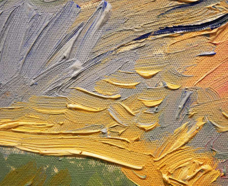 Abstract art background. Oil painting brush strokes on canvas texture. Fragment of artwork.