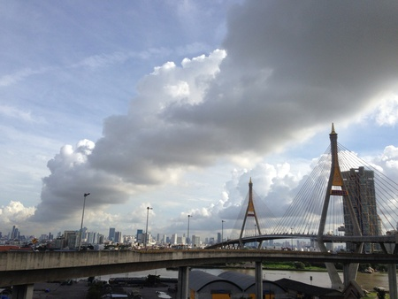 view: Amazing cloud along the city