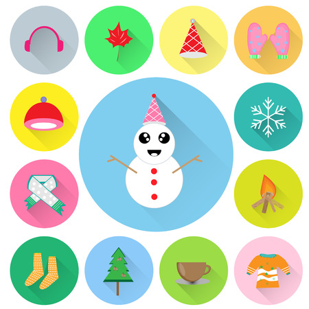 winter season: Winter season vector set