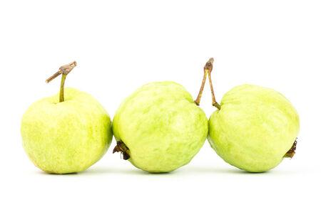 Fresh guava (tropical fruit) on white background photo