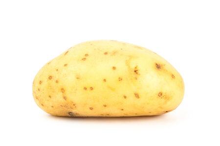 Raw potato on white background photo
