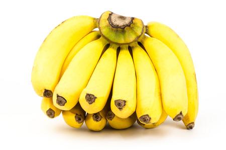 Ripe banana on white background photo