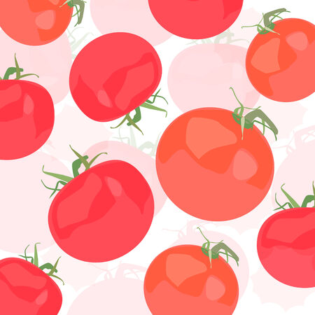 Tomatoes vector background Vector