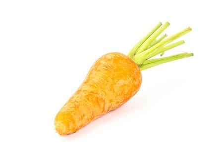 Raw carrot on white background photo